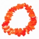 10-551660, Hawaiikette orange, Blumenkette, doppelte Stoffblüten, Party, Event, Strand, Fussball, Blütenkette